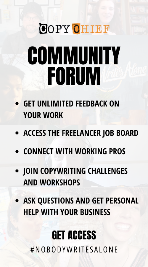 Copy Chief Coomunity Forum